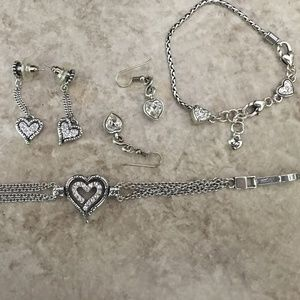 Brighton 4pc SET! Swarovski 2 bracelets,2 earrings